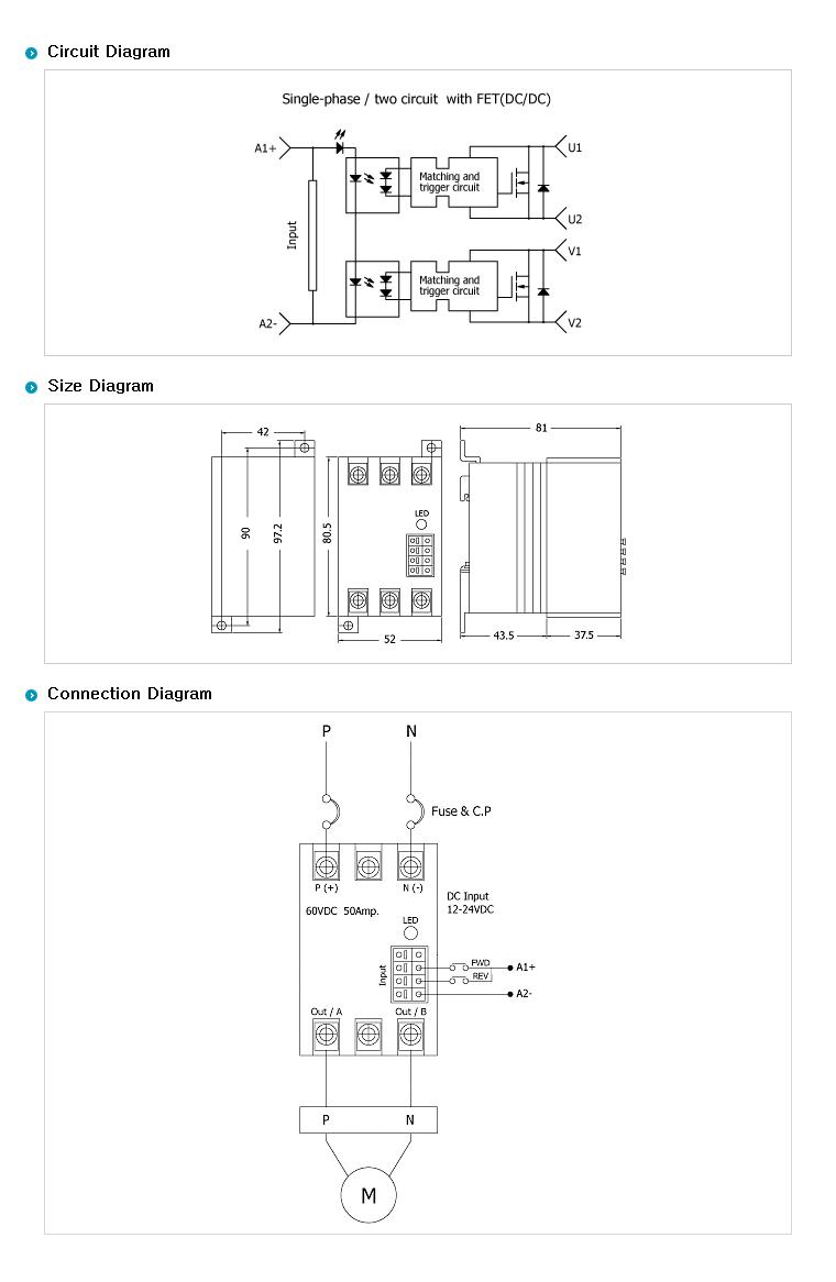 SamWha DSP Motor Only (DC Motor Forward-Reverse type/DC Input) WKS-0050FRMP 1