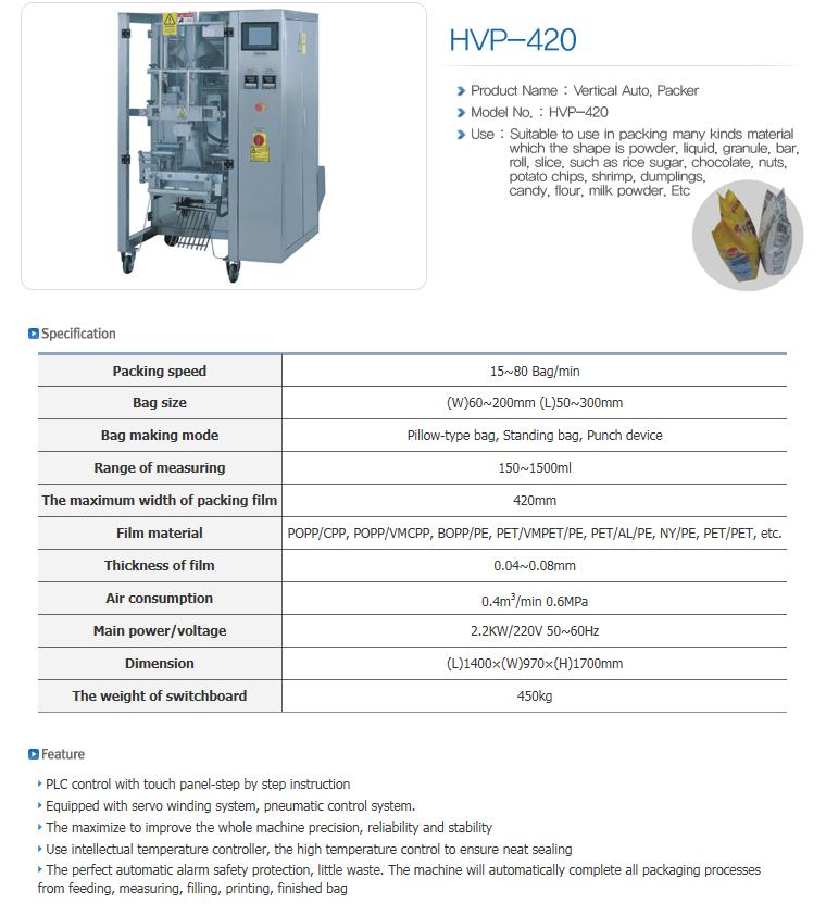 HANSAEM TECH Vertical Packing Machine HVP-Series