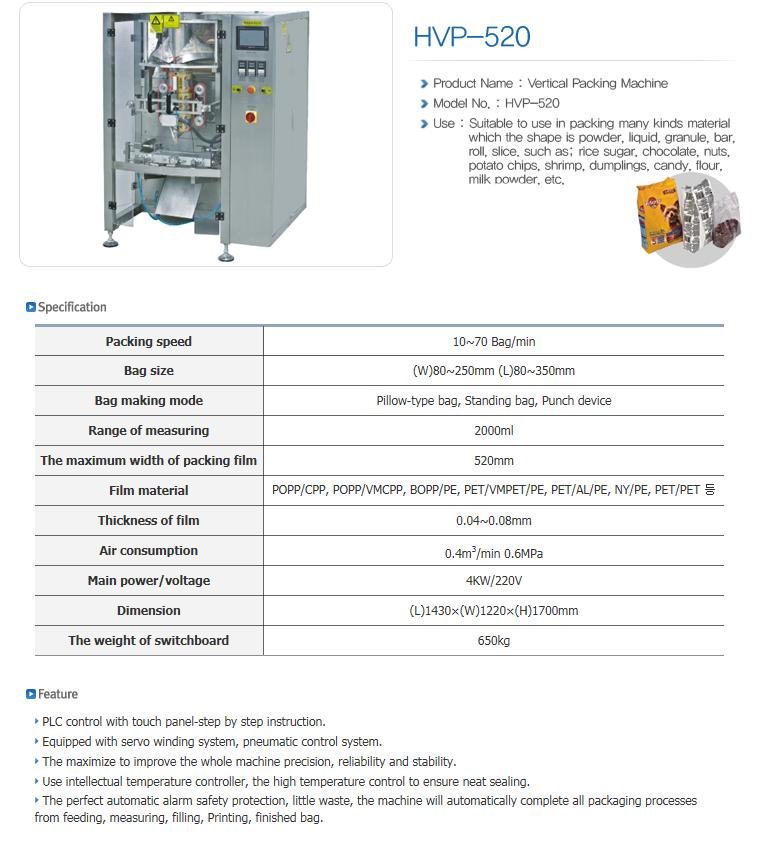 HANSAEM TECH Vertical Packing Machine HVP-Series 1
