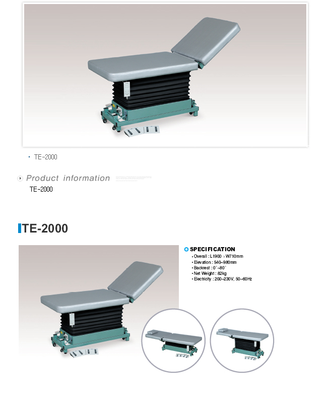 TAEDONG PRIME Examination Table