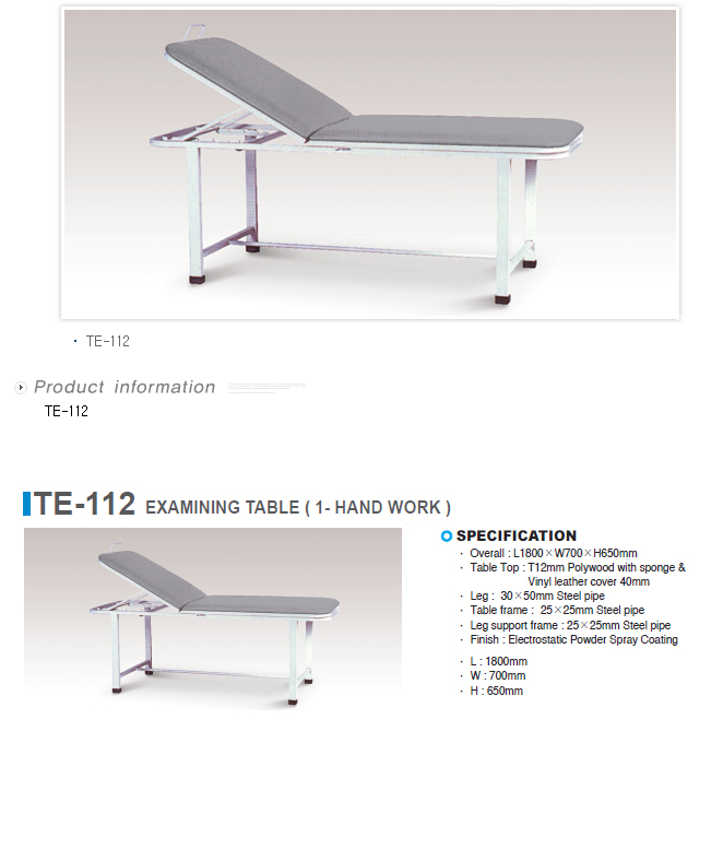 TAEDONG PRIME Examination Table  3
