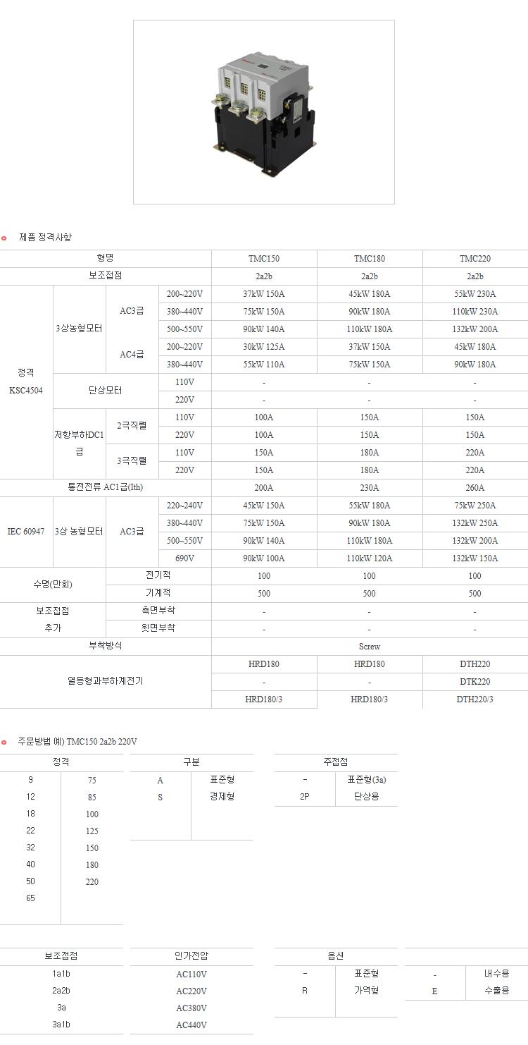 우리산전(주) TMC TMC100~220 3