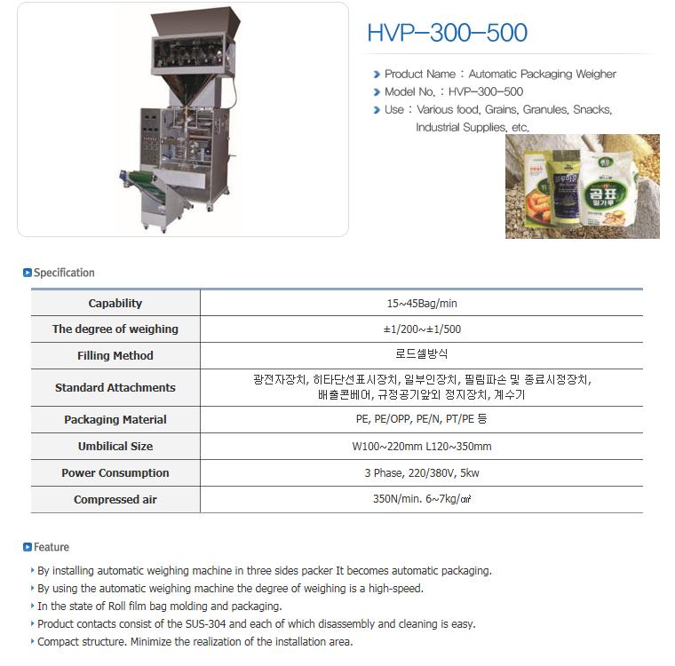 HANSAEM TECH Vertical Packing Machine HVP-Series 6