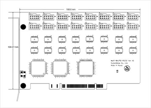 (주)시스템베이스 PCI Multi-8H/PCI 232 5