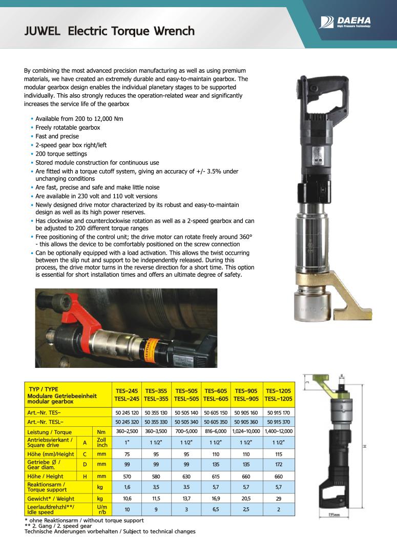 DAEHA JWEL Electric Torque Wrench