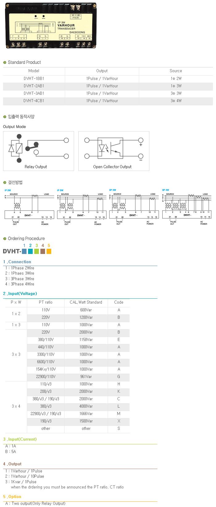 (주)대붕이앤씨 Varhour Transducer DVHT-Series 1