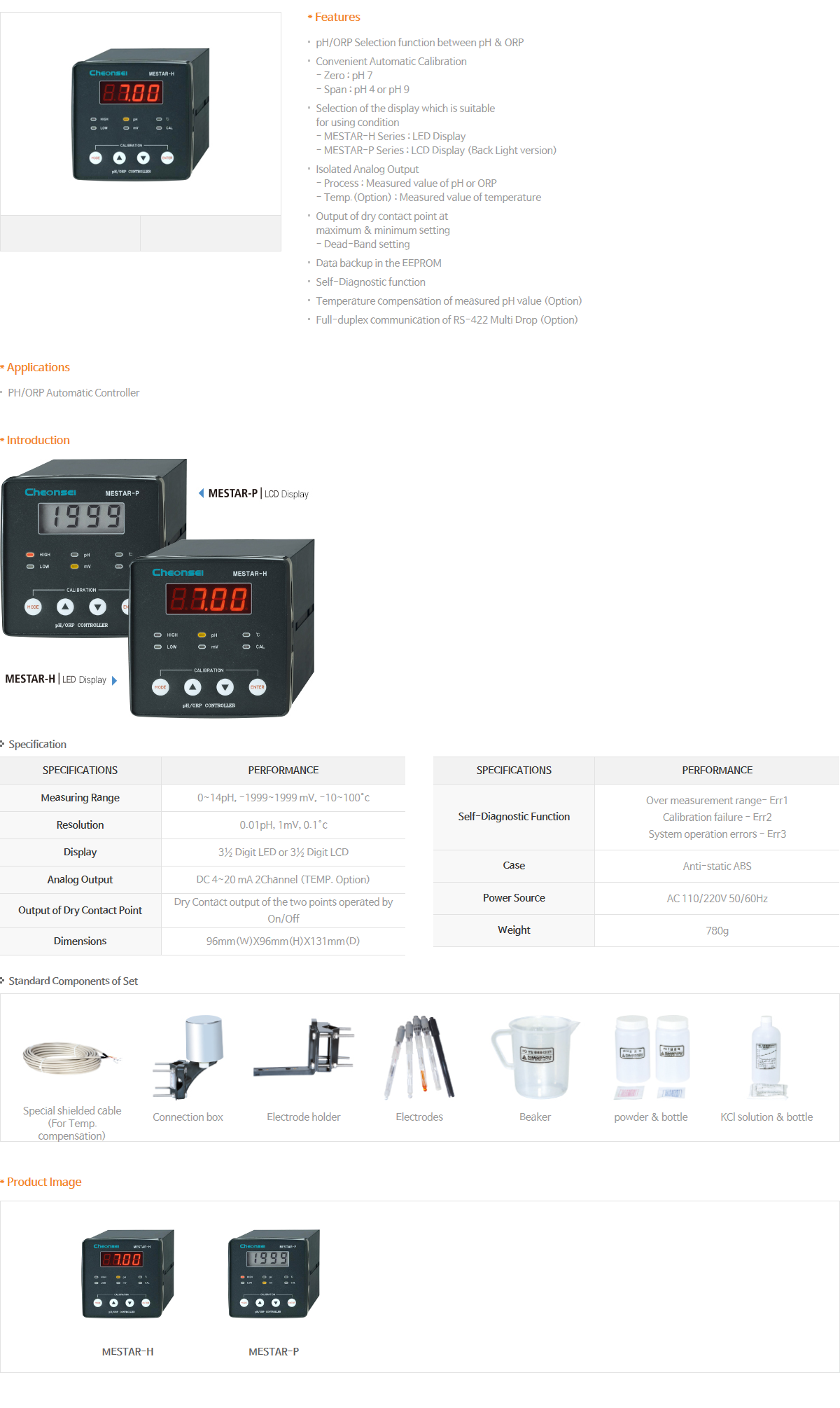 Cheonsei pH/ORP Controller & Sensor