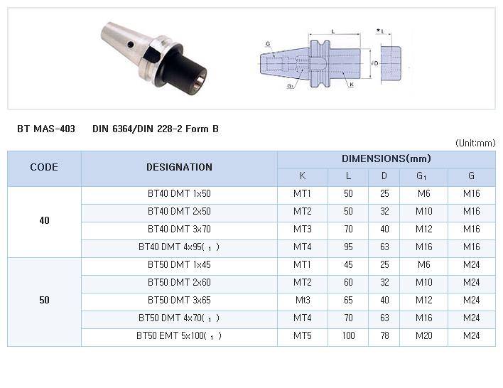 HK-TOOLS Morse Taper Adapter