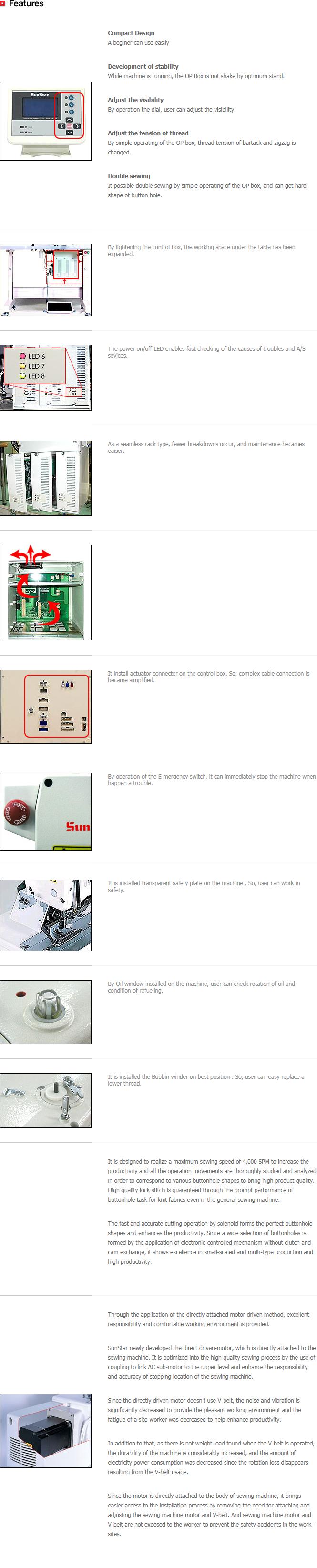 SunStar Button Hole & Eyelet Button SPS/D-BH3000 Series 1