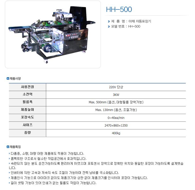 한샘테크 Pillow Packing Machine HH-Series 7