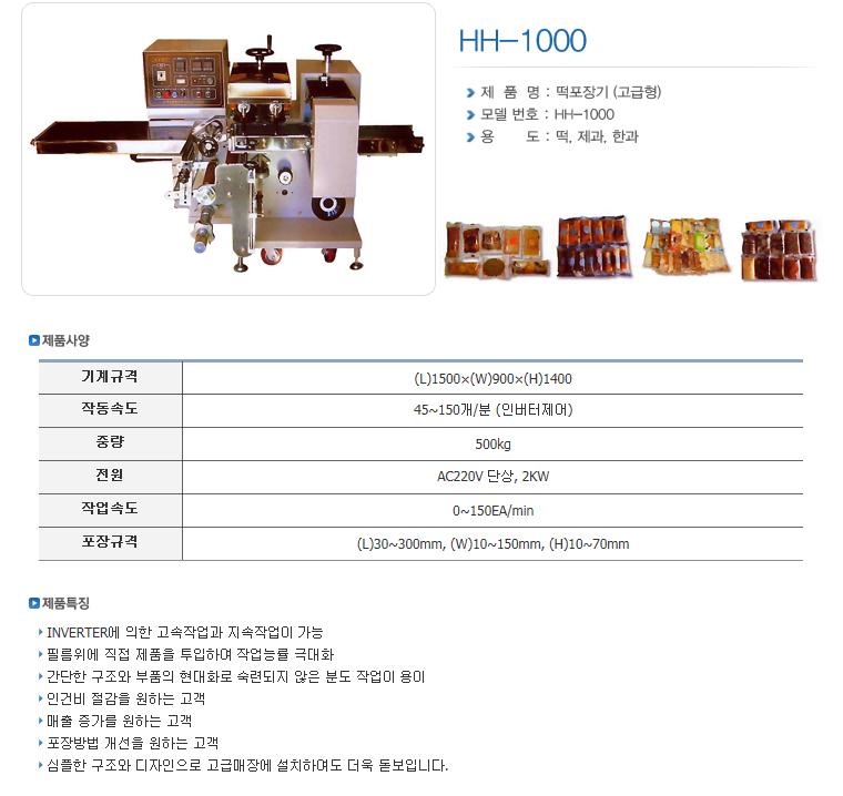 한샘테크 Pillow Packing Machine HH-Series 8