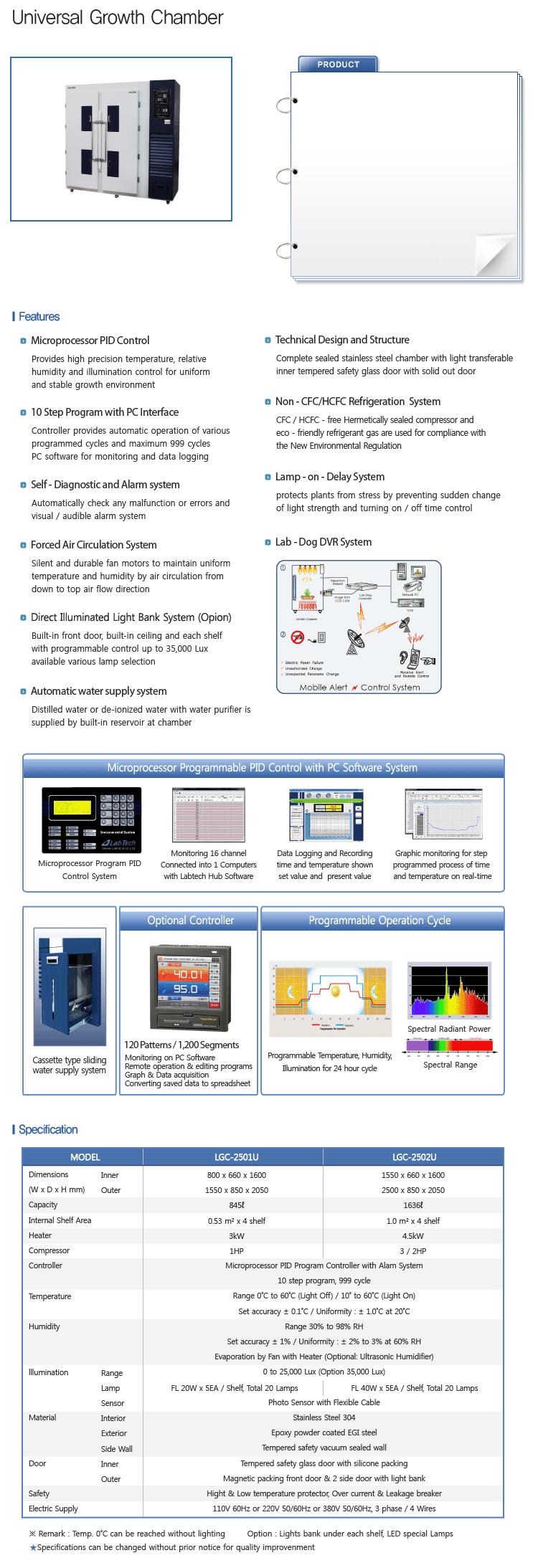 LABTECH Universal Growth Chamber LGC-2501U/2502U