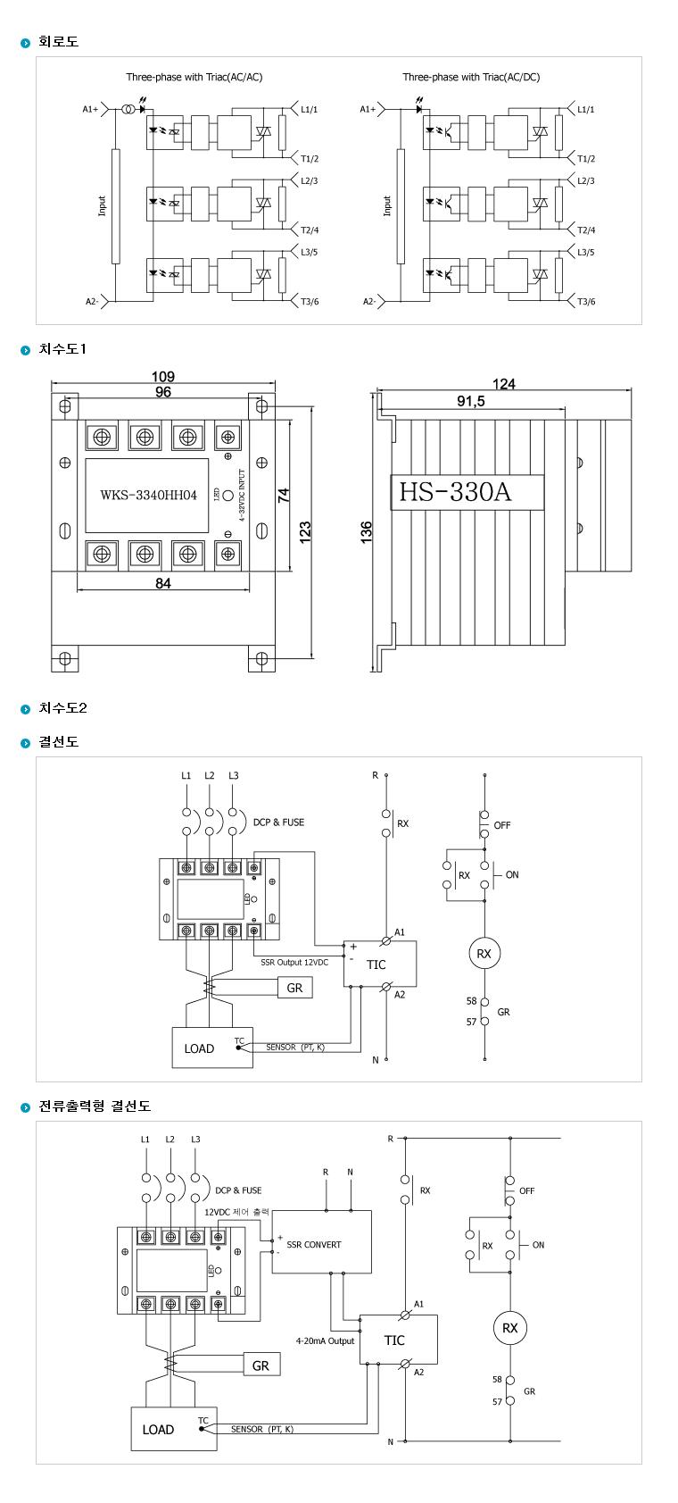 (주)삼화디에스피 삼상 3회로 및 단상2회로차단형 H-Type (AC출력/DC입력 일체형) WKS-3340HH04 5
