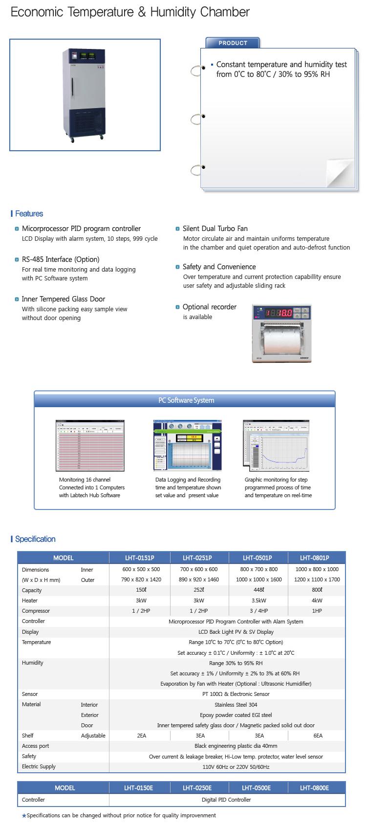 LABTECH - Economic Temperature & Humidity Chamber - LHT-P/E