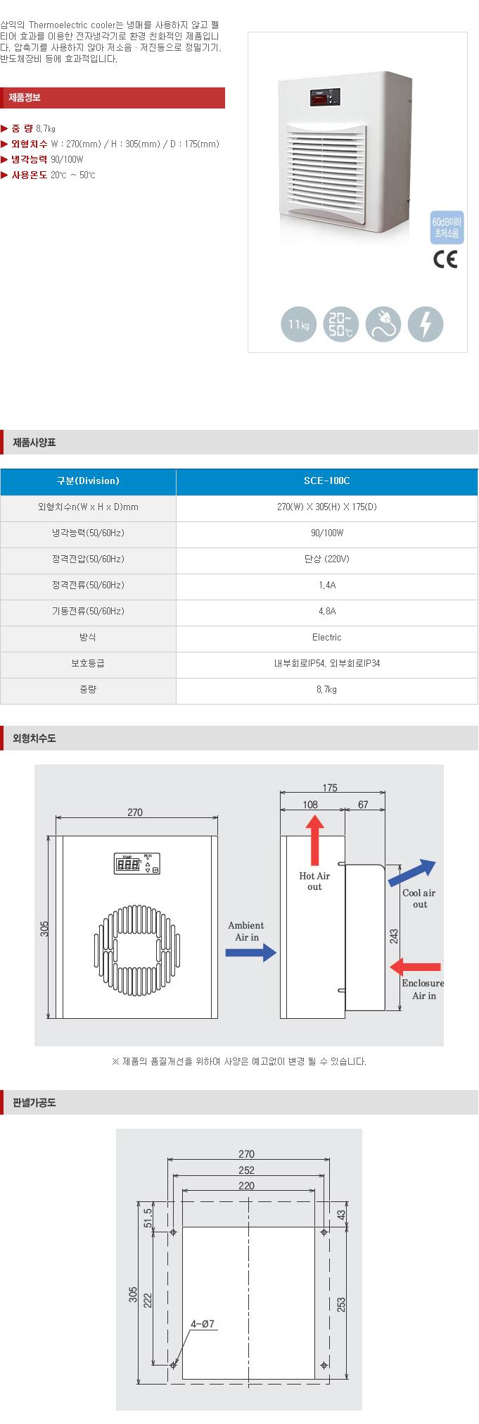 (주)삼익기전  SCE-100C 1