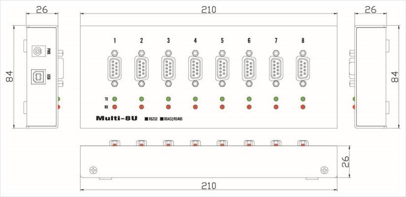 SystemBase Serial Port Multi-8U COMBO 2