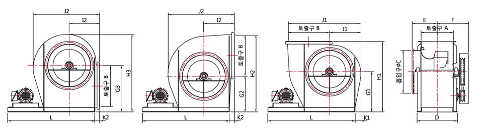 대륜산업 벨트 구동형 에어포일팬 DR-AF Series 1