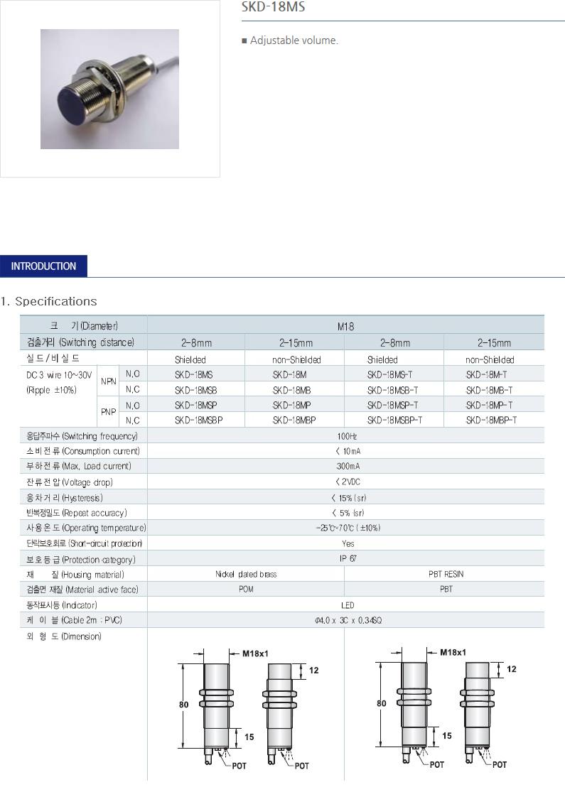 SANIL DC Capacitance Type Proximity Sensor  19