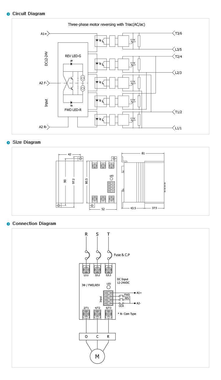 SamWha DSP Motor Only (AC Motor Forward-Reverse type/DC Input) WKS-3325FRMN 2