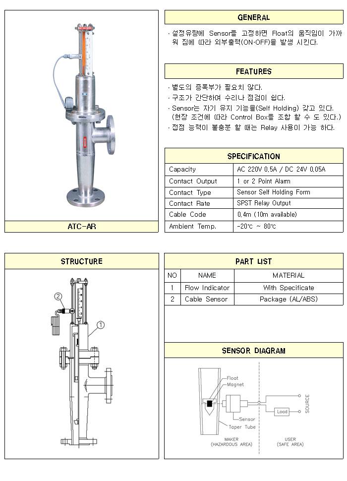 (주)한국아토셀  ATC-AR