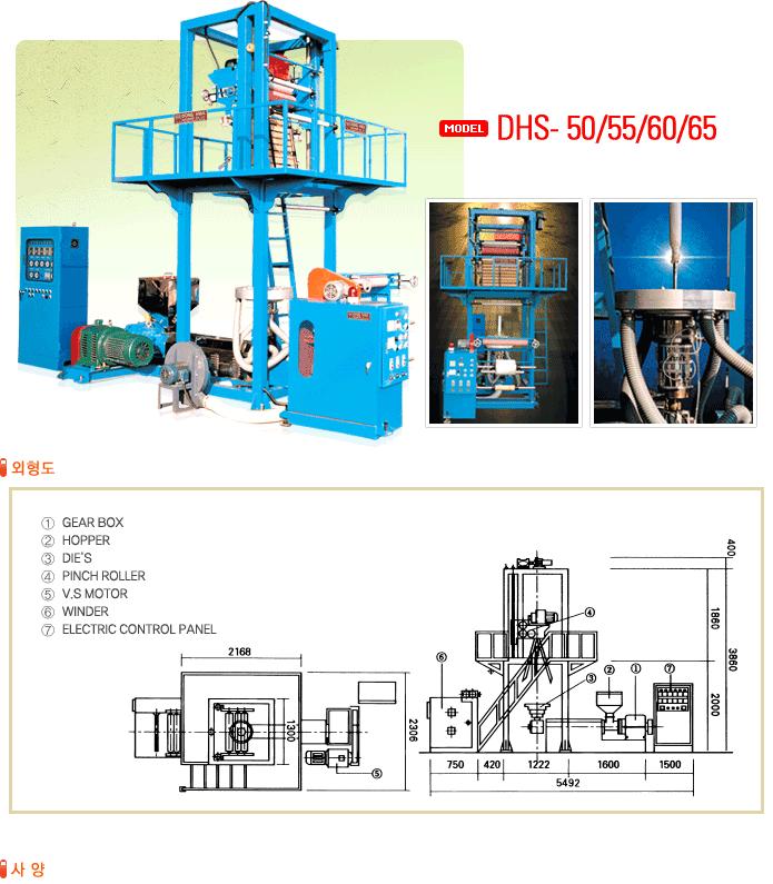 (주)동화인더스트리 싱글 압출기 DHS-50/55/60/65 1
