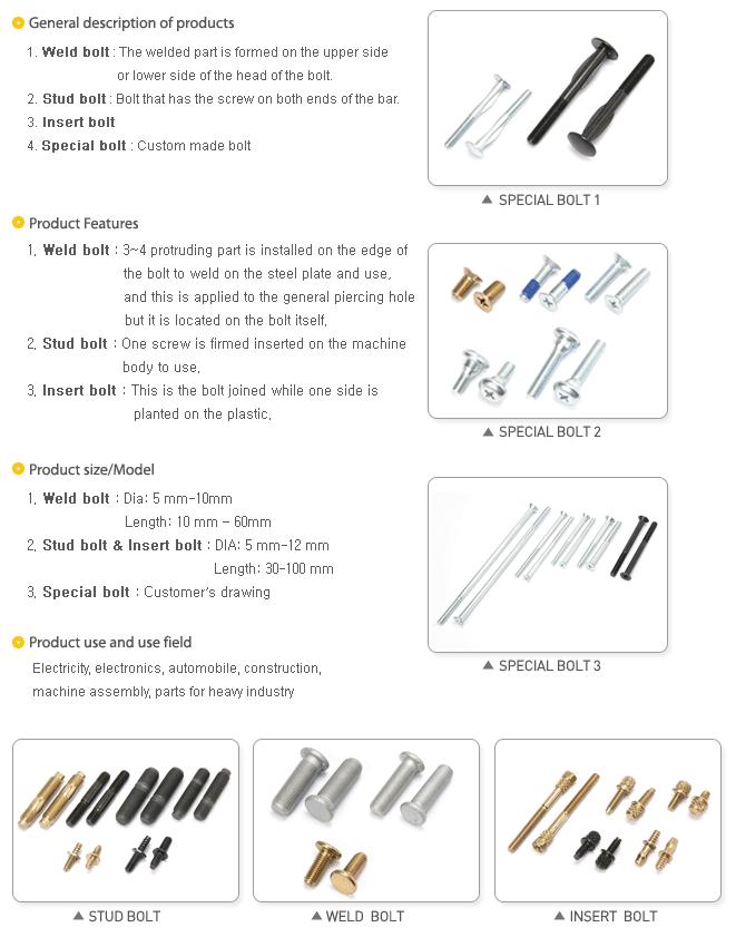 Sanghee Metal Special Bolts