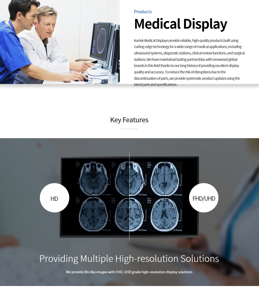 Kortek Medical Display