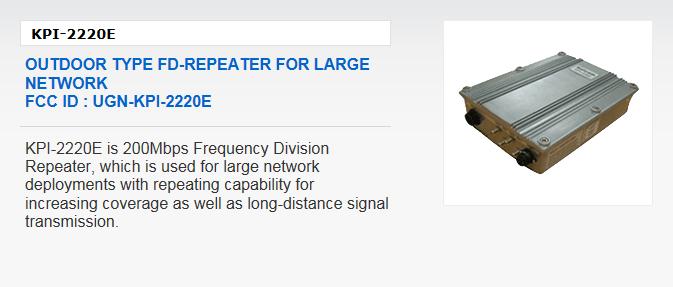 Kaicom Outdoor Type FD-Repeater KPI-2220E