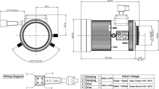 Camlux Lens BW2M5050CS