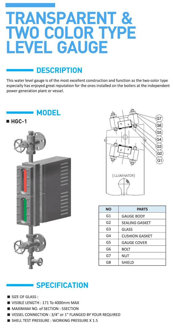 HITELFI Transparent & Two Color Type HGC-1