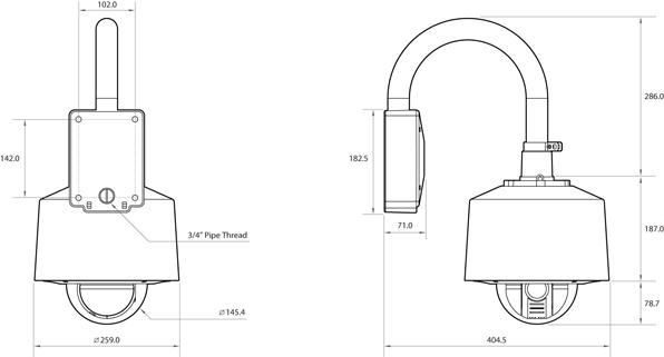 Camlux 2M-Speed Dome Camera CTI-H2101 2