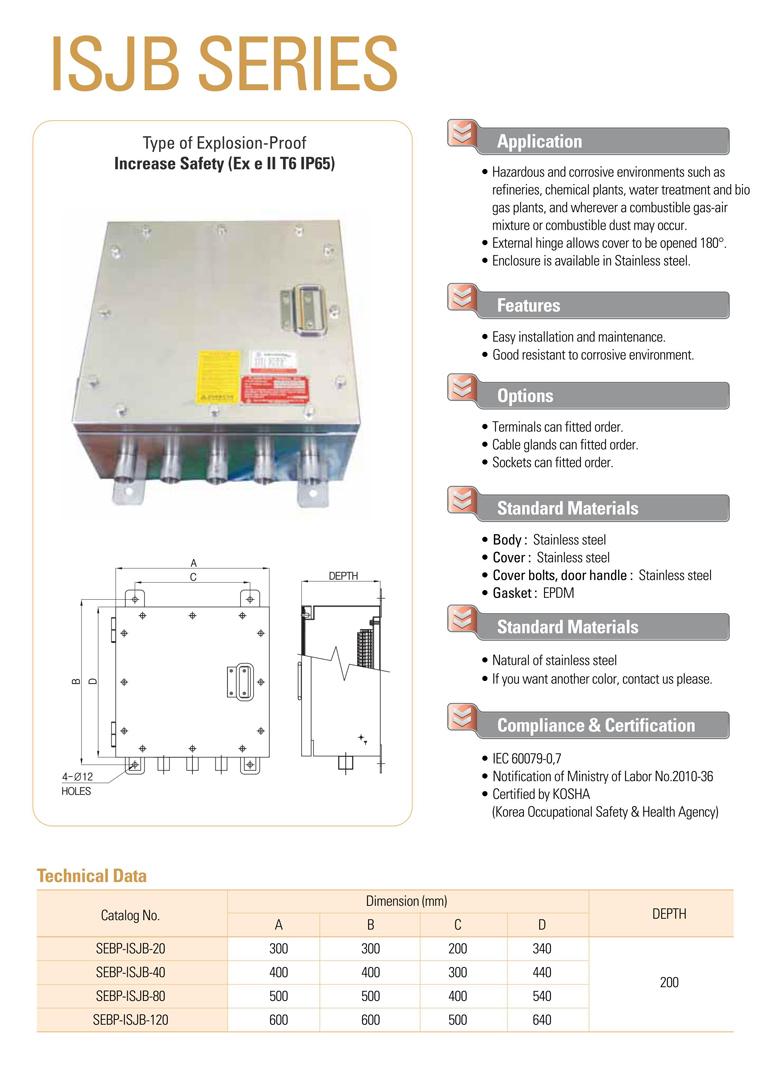 Samik Explosi Onproof Elxctric  ISJB Series