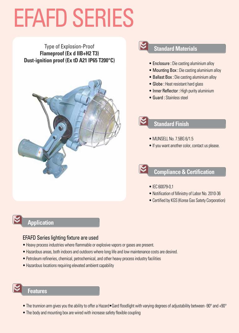 Samik Explosi Onproof Elxctric  EFAFD Series