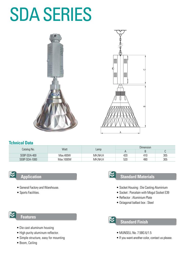 Samik Explosi Onproof Elxctric Hifg Bay Diamond Light SDA Series