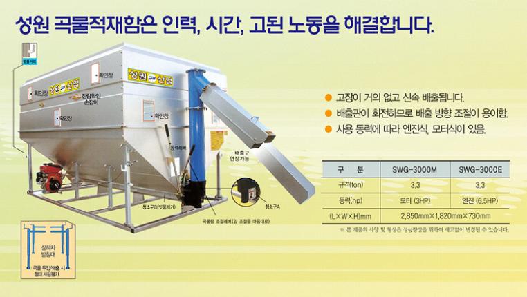 (유)성원산업 곡물적재함 SWG-3000M/3000E