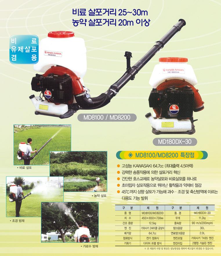 (유)성원산업 마루야마 동력살분무기