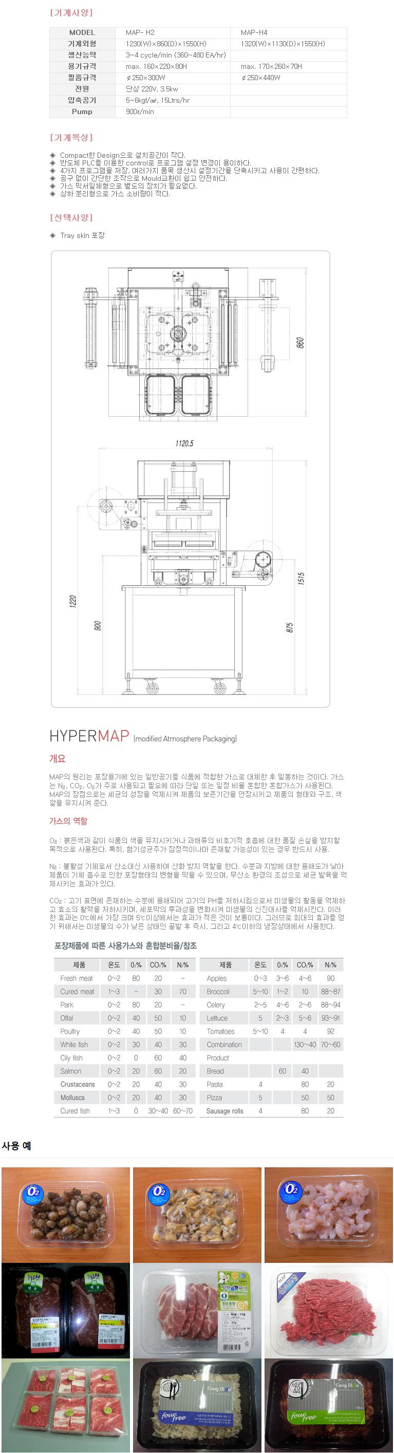 하이퍼박(주) MAP 포장기계 MAP-H2/H4
