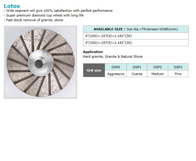 Dongsin Diamond Industrial Cup Wheel  7