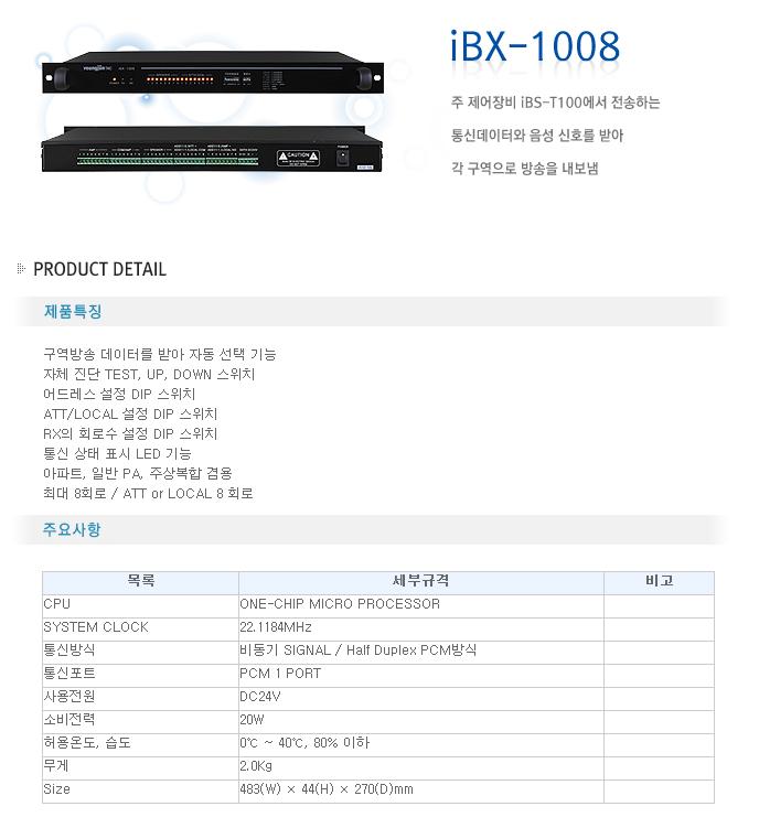 영전TNC  iBX-1008