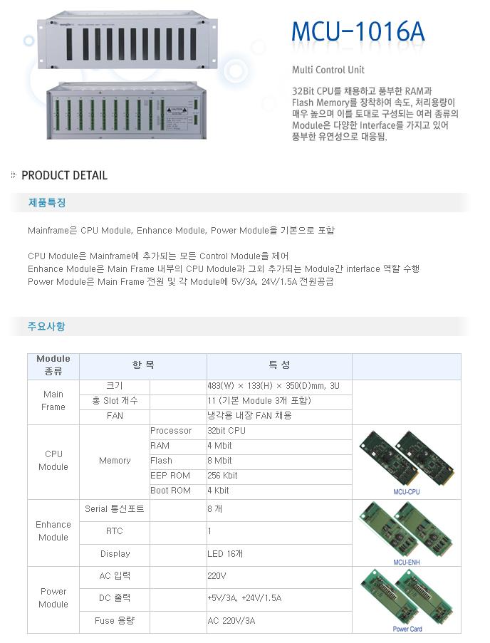 영전TNC Multi Control Unit MCU-1016A