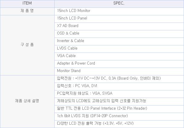 디스플레이웍스(주)  DW150XG0K-001