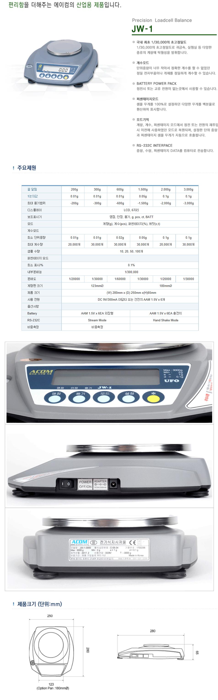 (주)에이컴 Precision Loadcell Balance JW-1 1