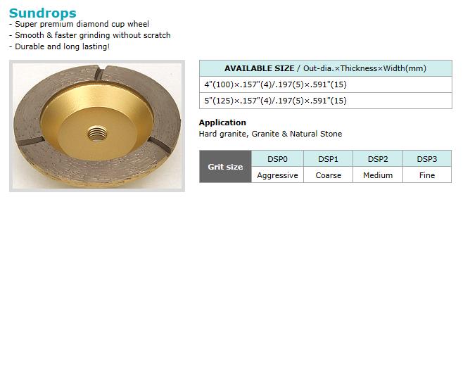Dongsin Diamond Industrial Cup Wheel  9