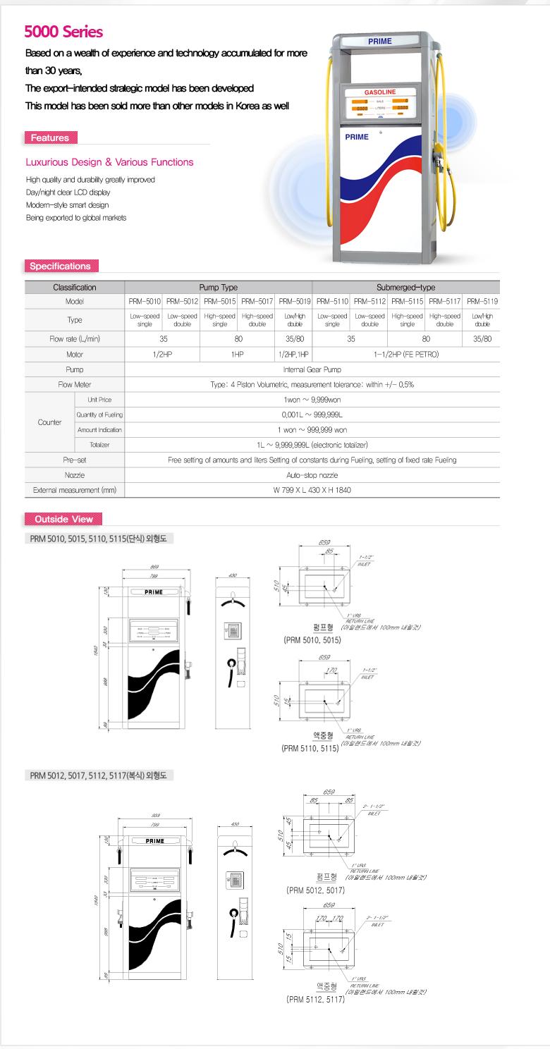 Donghwa Prime Fuel Dispenser PRM/SOP Series
