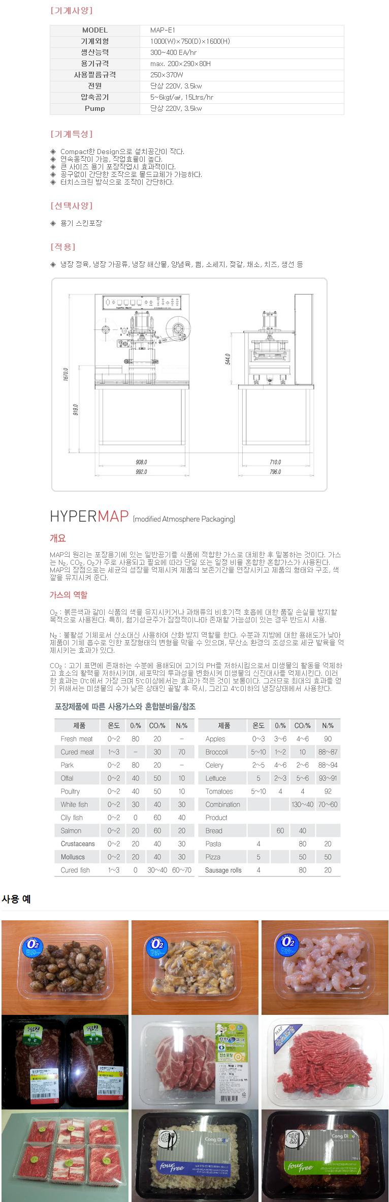 하이퍼박(주) MAP 포장기계 MAP-E1