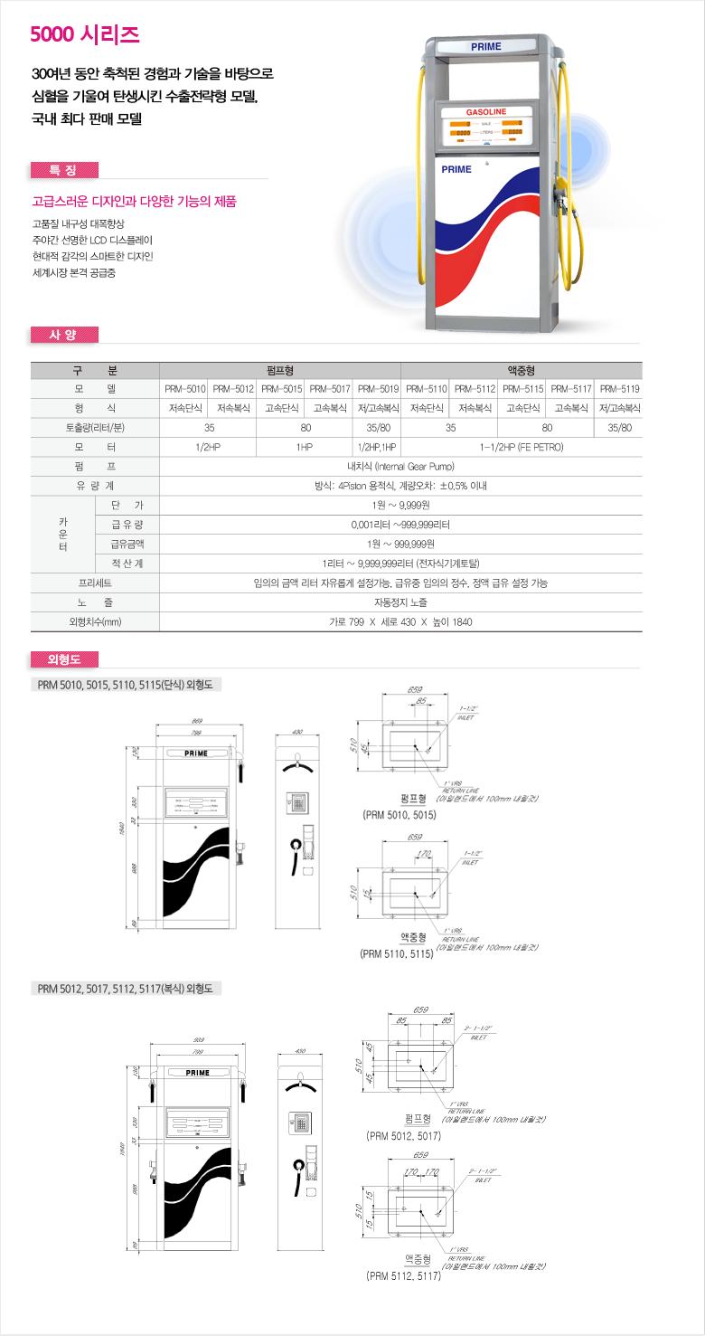 동화프라임(주) 주유기 PRM/SOP Series 5