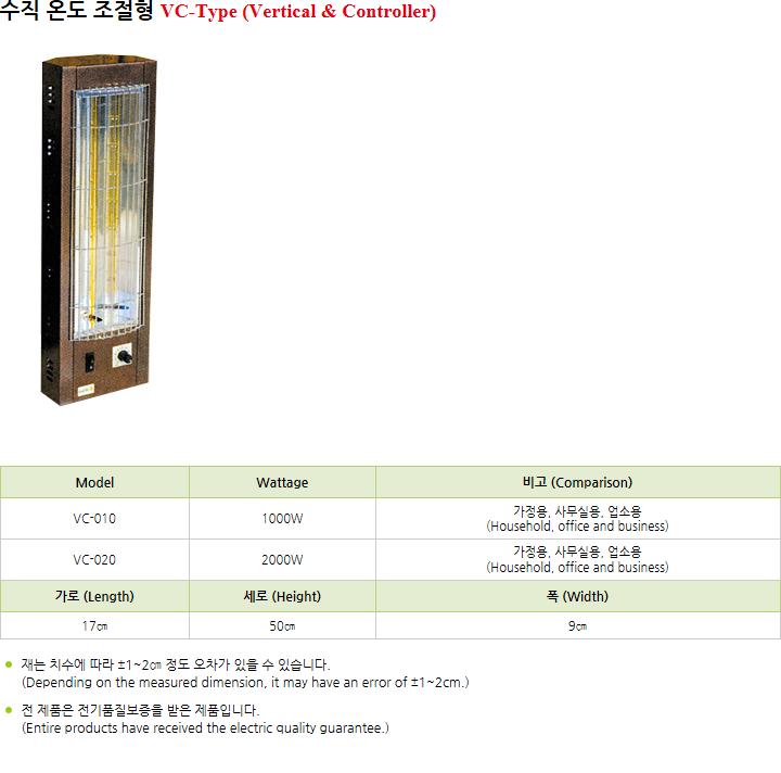 대양 에이치티엠(주) 수직 온도 조절형 VC-010/020