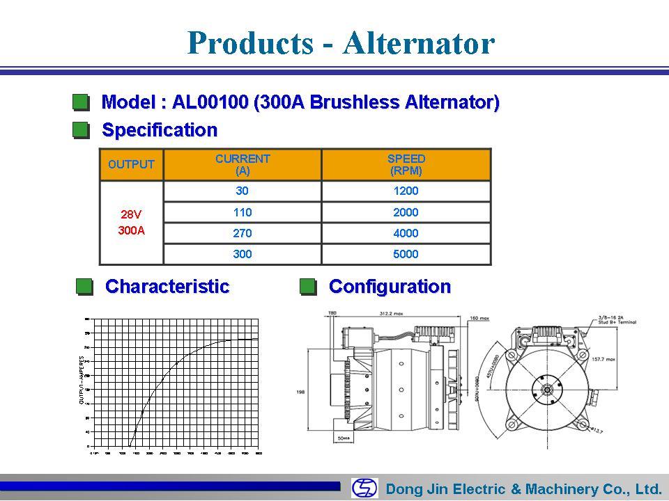 동진전기 Brushless Alternator AL00100 1