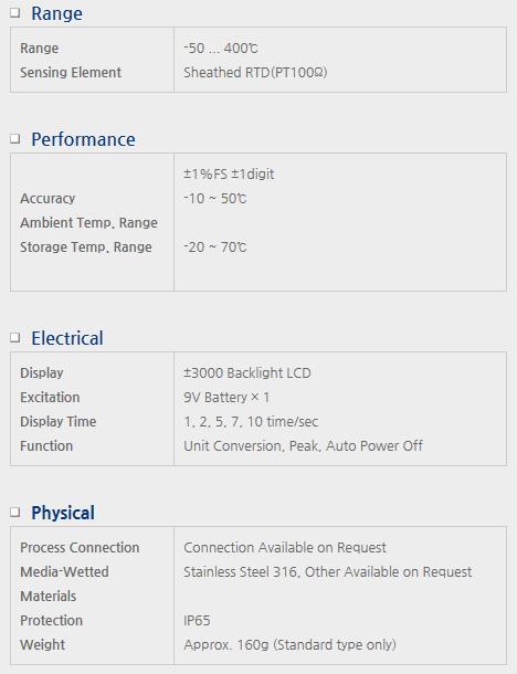 Sensor System Technology Digital Temperature Transmitter for Battery Power TBS