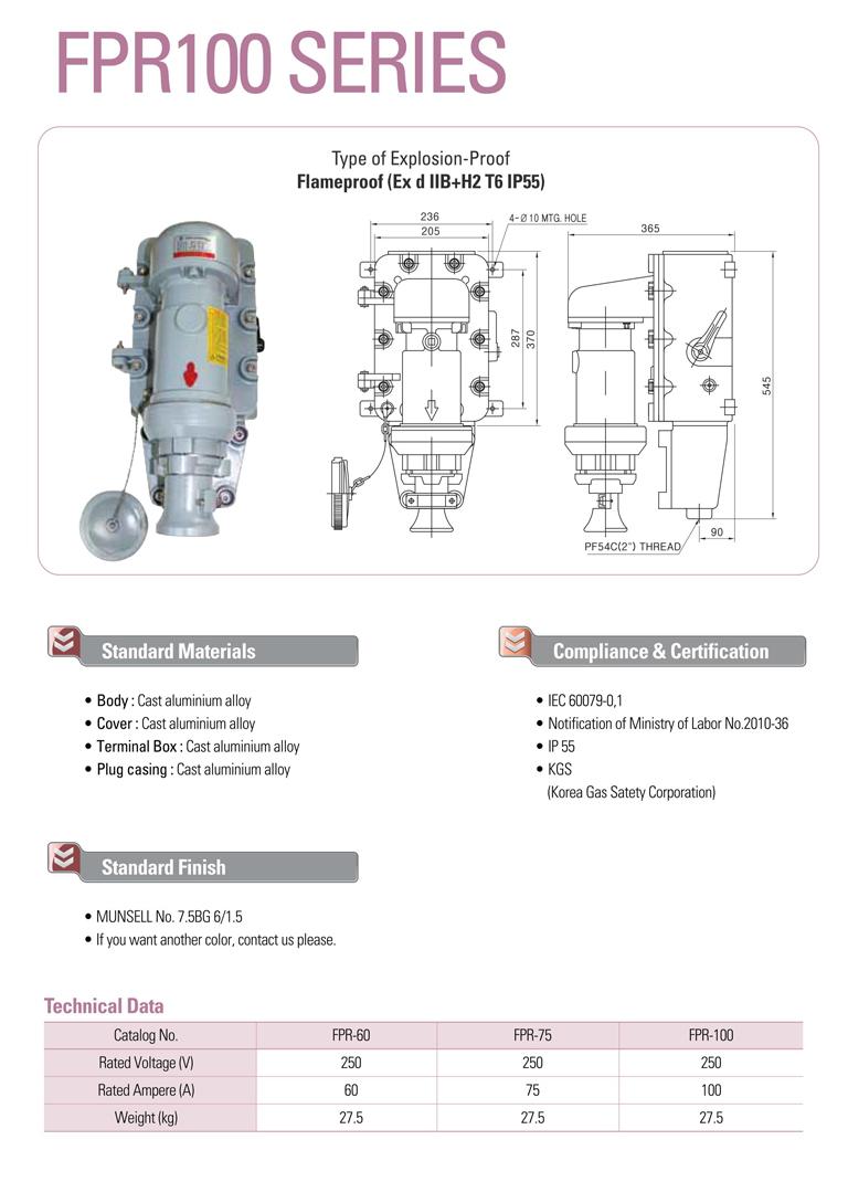 Samik Explosi Onproof Elxctric  FPR100 Series